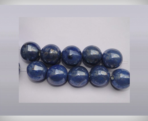 Buy Ceramic Beads-25mm-Blue at wholesale prices