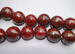 Ceramic Beads-30mm-Dark Red