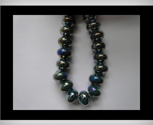 Ceramic Beads -Dark Blue-AB