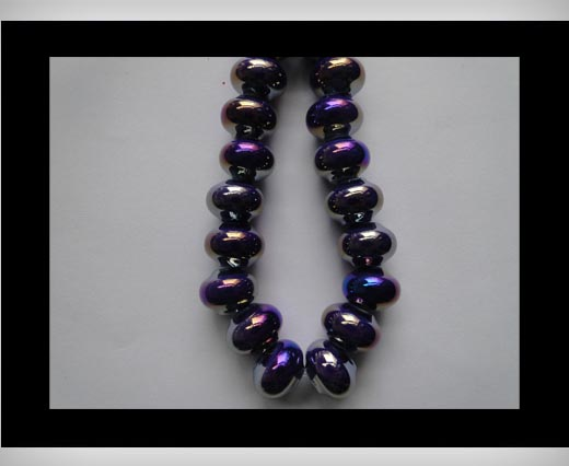 Buy Ceramic Beads -Blue-AB at wholesale prices