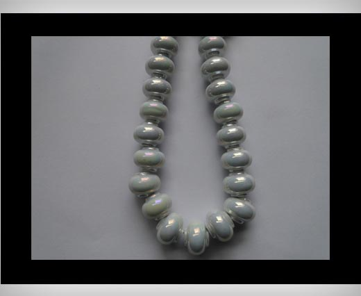 Buy Ceramic Beads -White-AB at wholesale prices
