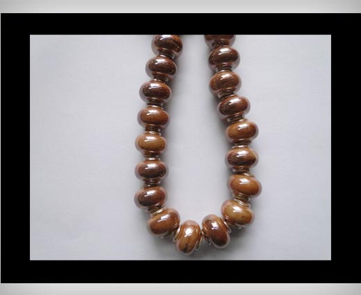 Ceramic Beads-Brown-AB