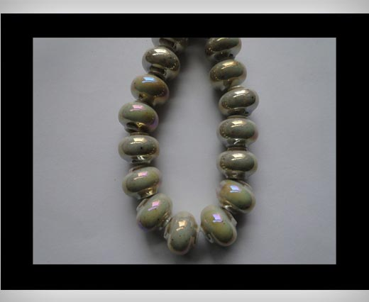 Buy Ceramic Beads -Beige-AB at wholesale prices