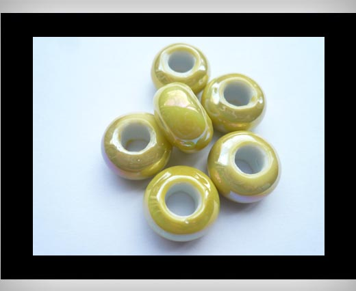 Ceramic Beads -Yellow-AB