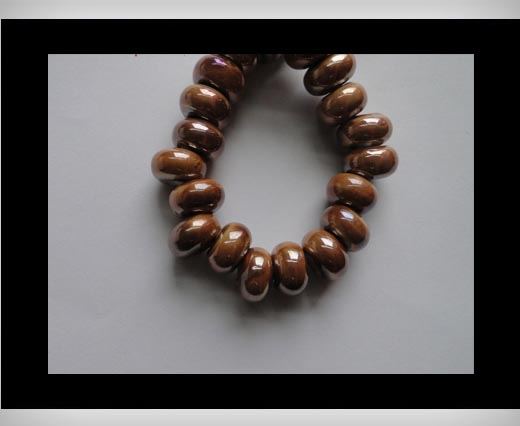 Buy Ceramic Beads -Brown-AB at wholesale prices