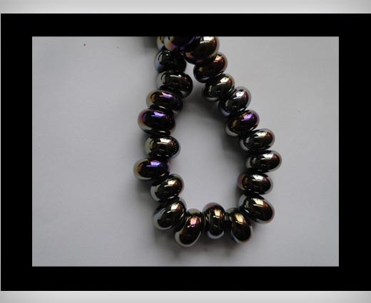 Buy Ceramic Beads -Black-AB at wholesale prices