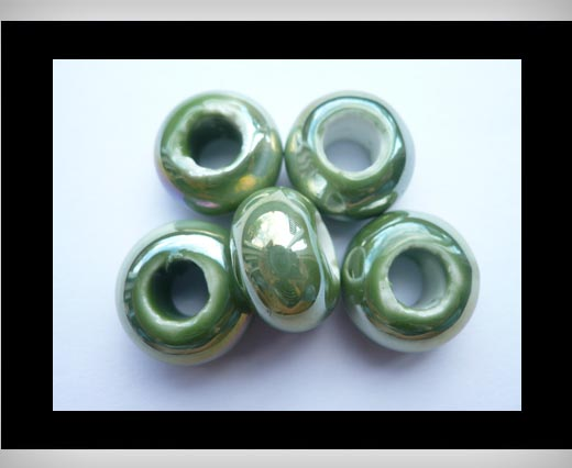 Buy Ceramic Beads -Green-AB at wholesale prices
