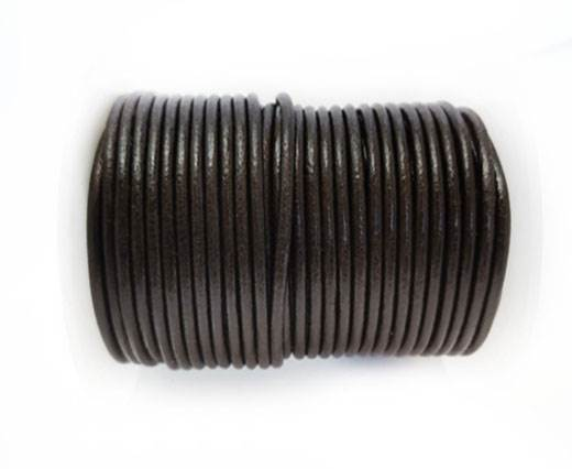 Round Leather cords  2,5mm - Coffee Brown