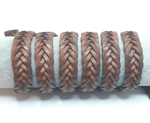 15mm-Flat Braided-Cognac