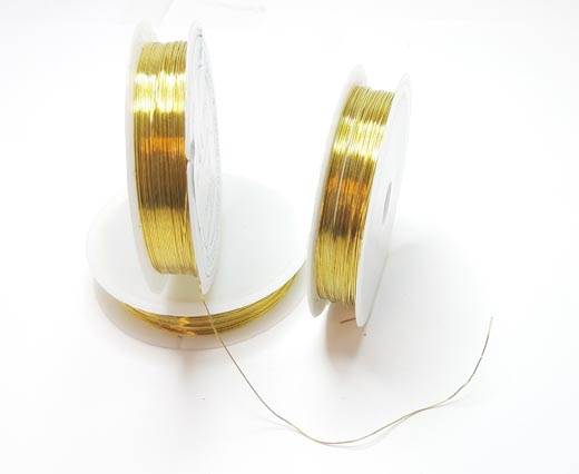 Copper wire 0.4mm - Gold