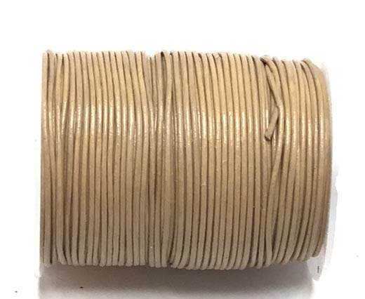Round leather cord -0.5mm-  Choral Rose