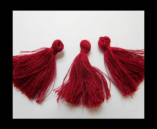 Cotton Tussels 3 cms - Wine Red