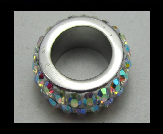 Crystal Big Hole Beads CA-4229
