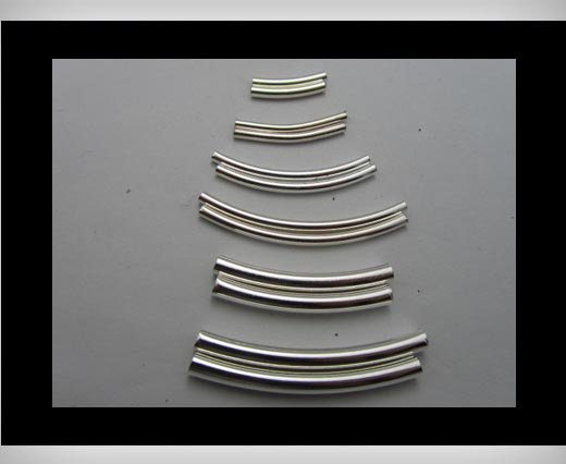 Curved Tubes FI-7021-Silver-3x50-bend