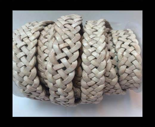 10mm Flat Braided- SE.PB.20- 5 ply braided Leather Cords