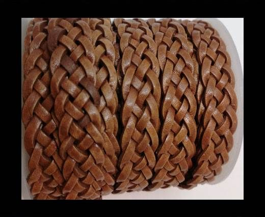 10mm Flat Braided- SE PB 04 - 5 ply braided Leather Cords