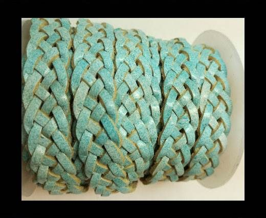 10mm Flat Braided- SE R 728 - 5 ply braided Leather Cords