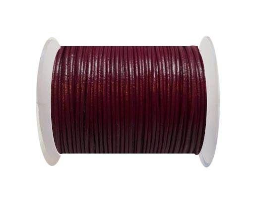 Round Leather Cord  - Fuchsia - 1mm