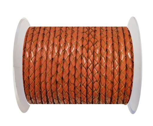 Round Braided Leather Cord SE/B/2010-Rust - 3mm
