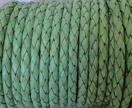 Round Braided Leather Cord SE/B/2034-Light Mint - 3mm