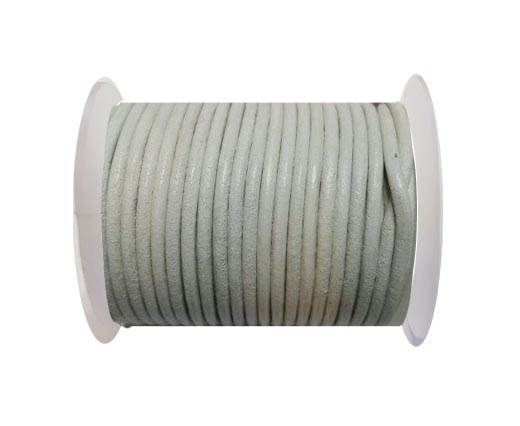 Round Leather Cord SE/R/06-White - 3mm