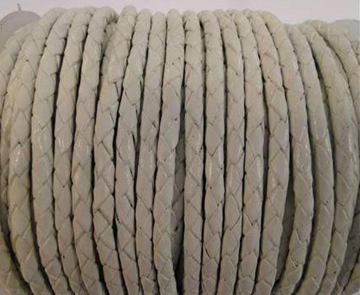 Buy Round Braided Leather Cord SE/B/05-White - 3mm at wholesale price