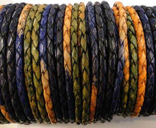 Round Braided Leather Cord SE/DM/03-Night Shades - 5mm