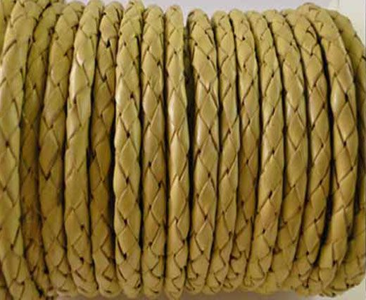 Buy Round Braided Leather Cord SE/B/10-Lemon yellow - 3mm at wholesale price
