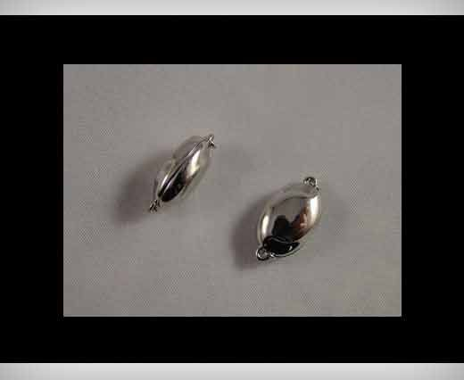 925 Sterling Silver Magnetic Locks SSMG-08