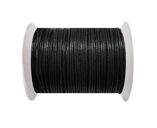 Round Leather Cord  - Medium Grey- 1mm