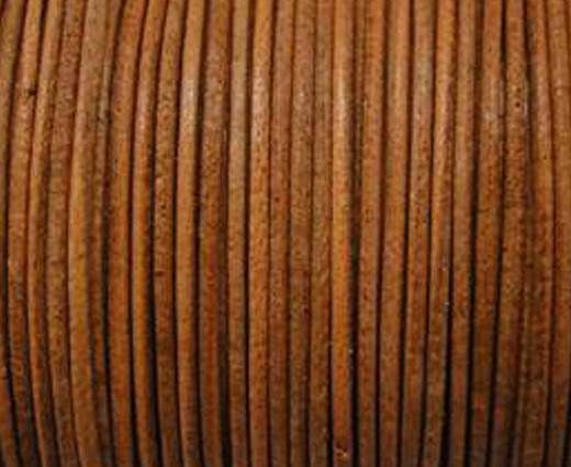 Round Leather Cord  - Vintage Tan - 1mm