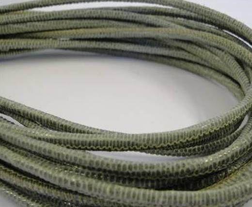 Fine Nappa-2,5mm-lizard olive + paillettes transparent