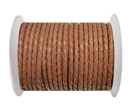 Round Braided Leather Cord SE/B/2019-Taupe - 4mm