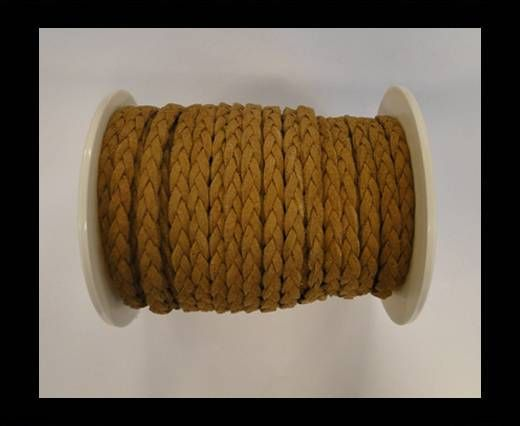 Braided Suede Cords -Brown-5mm