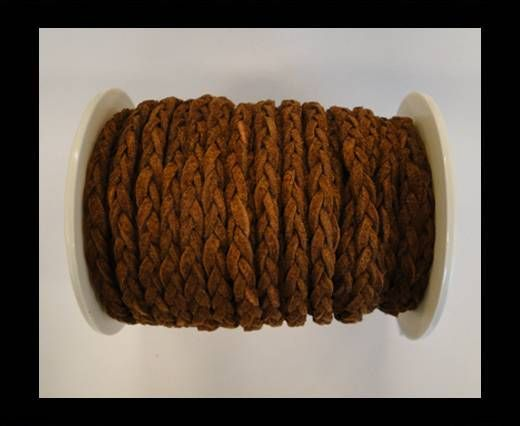 Braided Suede Cords -Dark Brown-5mm