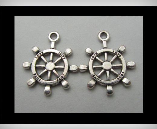 Zamac Silver Plated Beads CA-3115