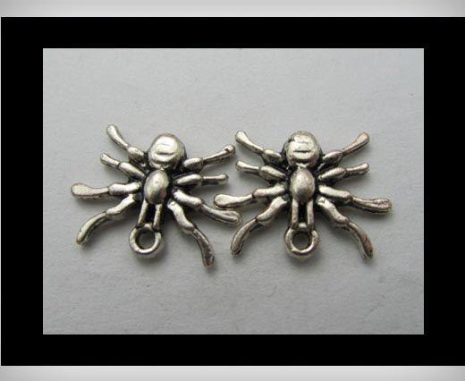 Zamac Silver Plated Beads CA-3199