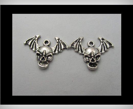 Zamac Silver Plated Beads CA-3205