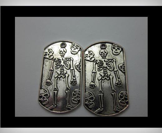 Zamac Silver Plated Beads CA-3253