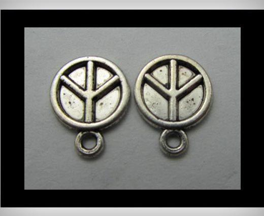 Zamac Silver Plated Beads CA-3254