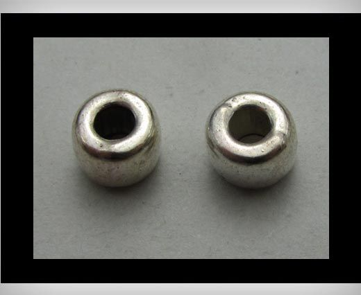 Zamak Silver Plated Bead CA-3280
