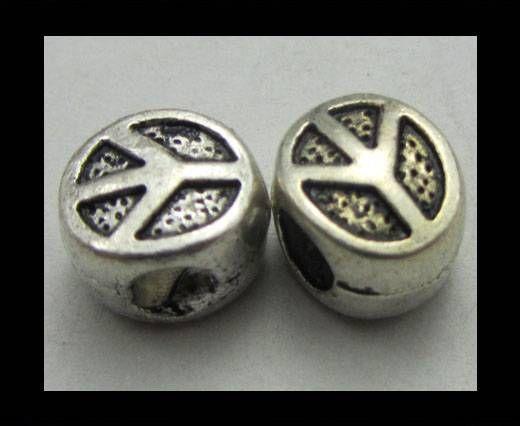 Zamac Silver Plated Beads CA-3378