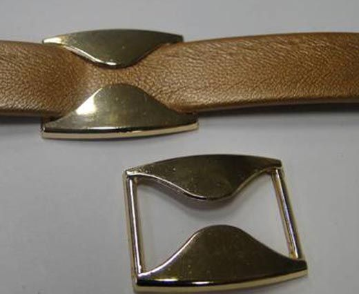 CA-4672- Rose Gold-Zamac parts for leather