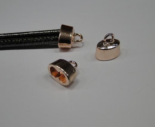 CA-4761-Rose gold-Zamac parts for leather