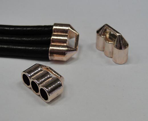 CA-4762-Rose gold-Zamac parts for leather