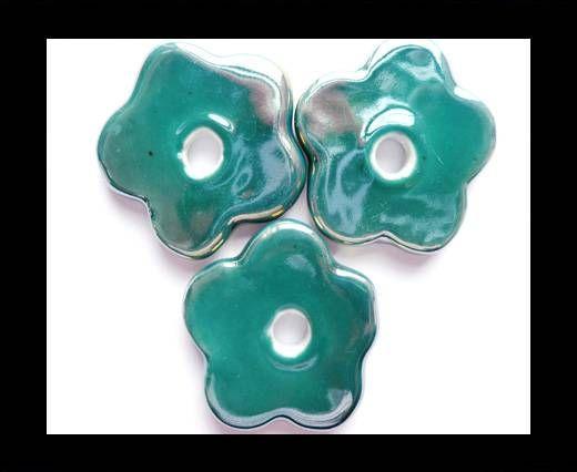 CB-Ceramic Flower-Small Flower-Dark Blue AB