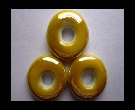 CB-Ceramic Flower-Small Donuts-Yellow AB