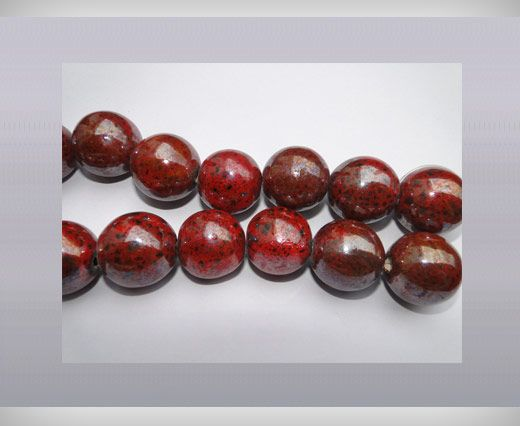 Ceramic Beads-16mm-Dark-Red