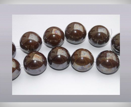 Ceramic Beads-25mm-Brown