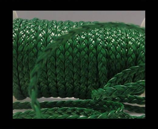 Eco-Flat braided leather-5mm-Green
